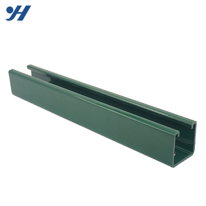 High Strength Galvanized Fabricated Solid Unistrut C Steel Channel With  Holes For Building Use