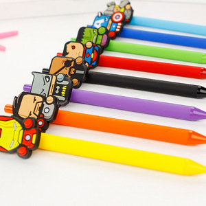 Newest popular lovely plastic doll ball pen
