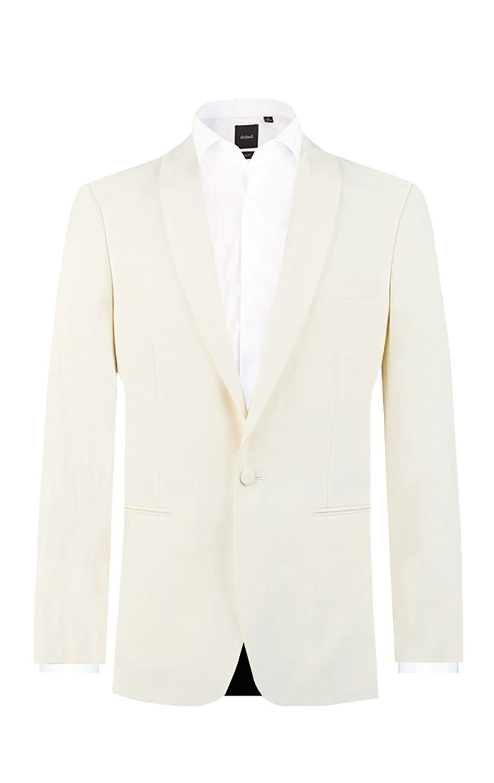 INMONARCH Mens White Jute 4 Pc Tuxedo Suit Brown Piping TX953