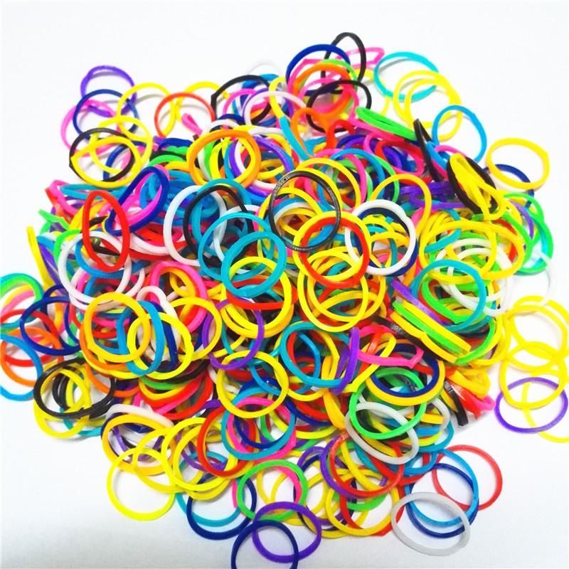 600 шт./лот смешивания цветные пятна резинки плести браслеты резинки резинка для браслетов детской плетения машина подарок