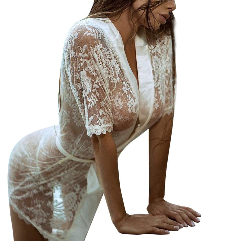 6150fc0a59f Appoi Women Fashion Girl Sexy Dressing Gown Sexy Lingerie Lace Sleepwear  Lingerie Bath Robe Nightwear