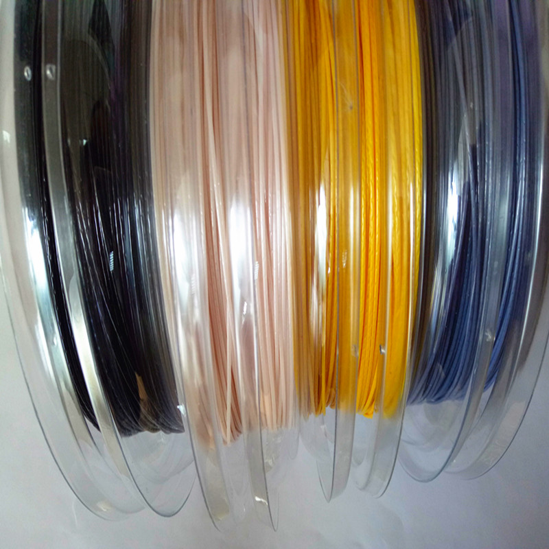 Big banger polyester brand tennis string kevlar 1.25mm 200m per reel,any colors, Pink;white;gold yellow;gray;black