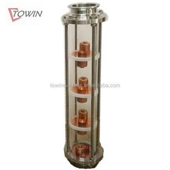 Towin 2in 3in 4in crystal glass Bubble Plate reflux Columns