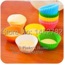 10 шт./компл. для выпечки формы силиконовые сдобы чашки круг высокая температура чашки торт печь силиконовые маффин прессформы