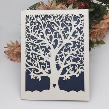 Customizable Laser Cut Tree Wedding Invitations Romantic Wedding
