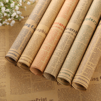 New Product Gift Wrap Kraft Paper Brown Kraft Paper For Flower Gift