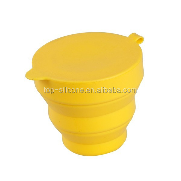 Popular Fashionable collapsible silicone cup eco-friendly Reusable Silicone Folding Cup