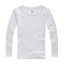 ffff3d7e2 Boys Long Sleeve T Shirts For Children 2019 Autumn pure color T-shirt  Cotton 1