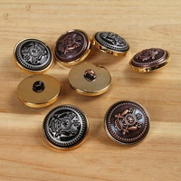 wholesale round shank two part combined plastic military coat button