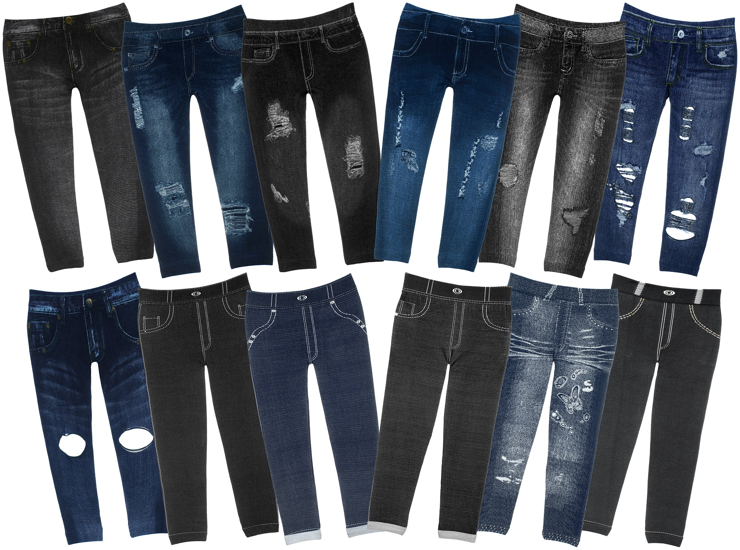 59aa5848028ba Get Quotations · Crush Girl's Jeggings with Sequenced Designs and Fun  Prints 14 Great Styles