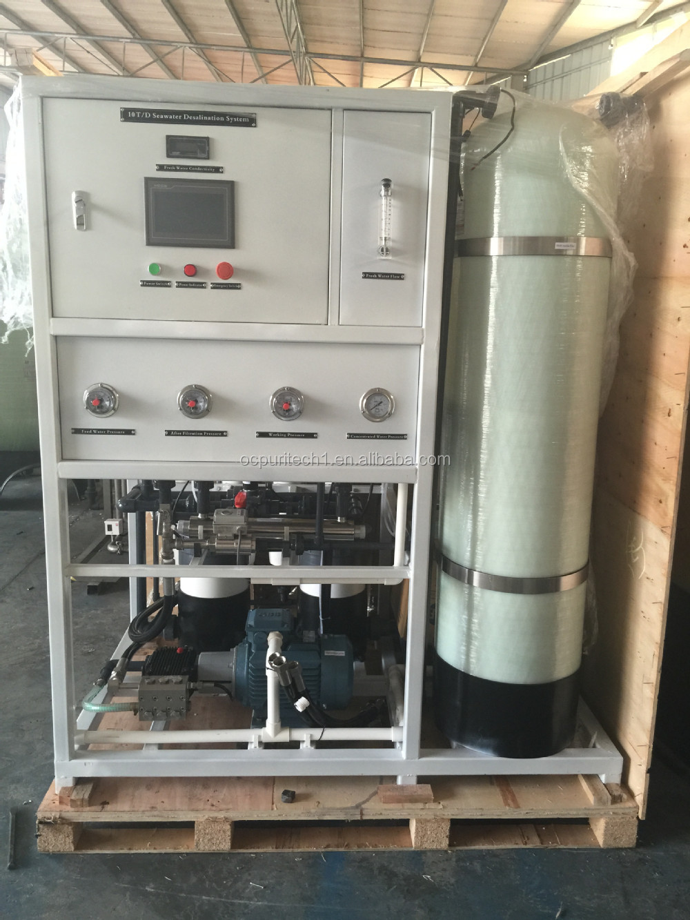 CE certificate 10T/D seawater desalination treatment machine on land