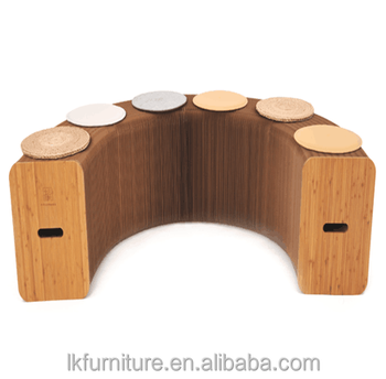 Folding Accordion Seating, Stretchable Stools,Portable Wooden Chair