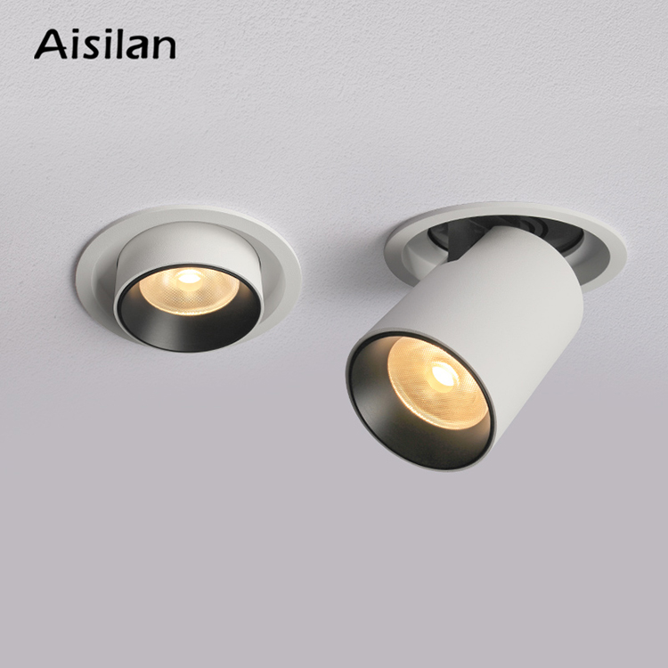 Aisilan Office hotel pictures adjustable flexible hiden recessed led ceiling spot light downlight