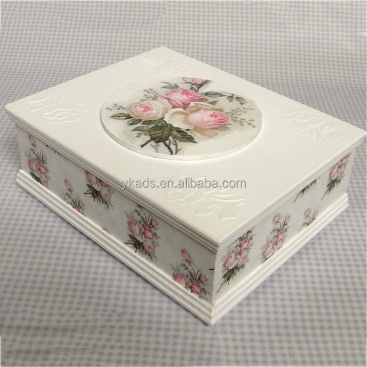 Rectangle drink promotion solid wood box