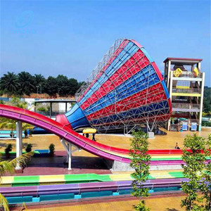 Customized factory fiberglass water slide tubes, commercial size water fiber glass slides