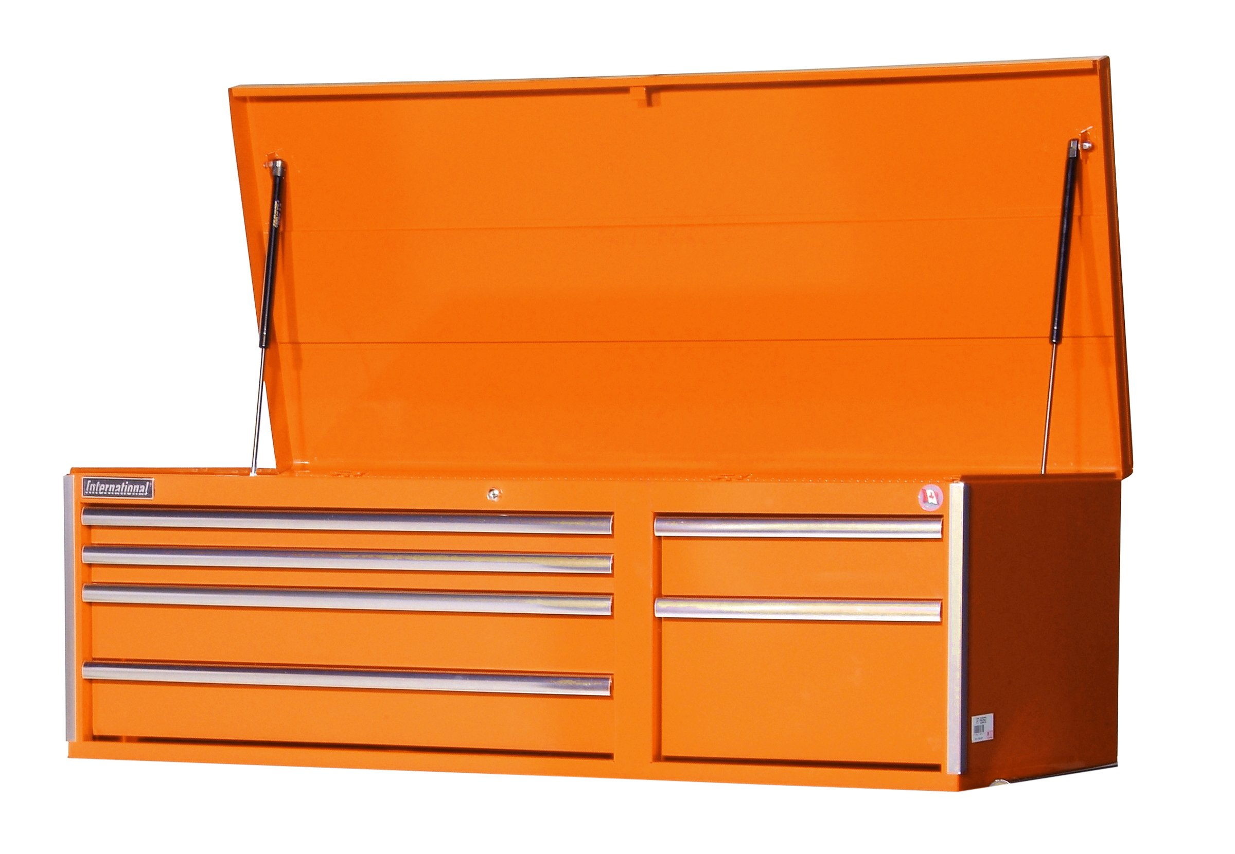 International VRT-5606OR 56-Inch 6 Drawer Orange Tool Cabinet with Heavy Duty Ball Bearing Drawer Slides