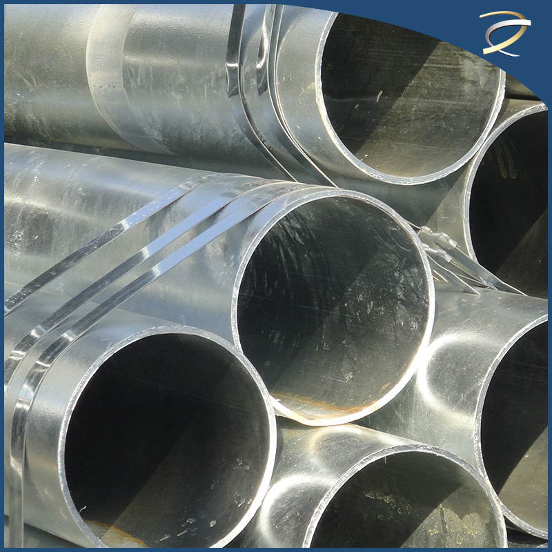 Round Mild 400G/M2 Steel Welded Hot Dipped Galvanized Steel Pipe
