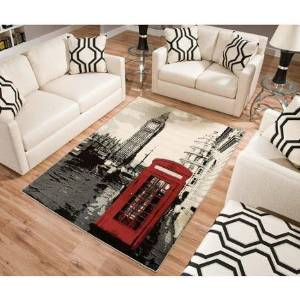 Buy Terra Piano Rectangle Area Rug Black White In Cheap