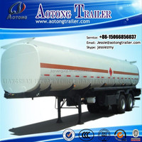 high quality Carbon Steel Crude Oil Fuel Tank Semi Trailer for Sale (Stainless tank for cooking oil optional)
