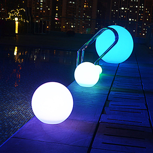 A101 Dia.12cm 16 colors waterproof glow light up rechargeable floating led pool light