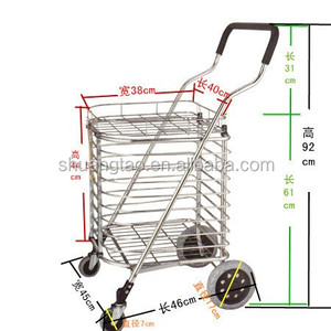 Trade assurance cheap grocery shopping smart trolley cart, supermarket Hand Trolley from Guangzhou factory