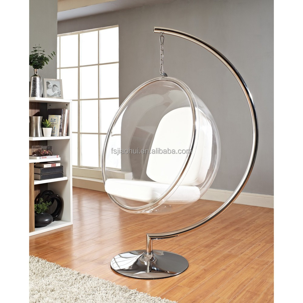 Home furniture design ideas using clear hanging egg chair - Factory Price Designer Relax Furniture Ceiling Acrylic Transparent Hanging Swing Bubble Ball Chair