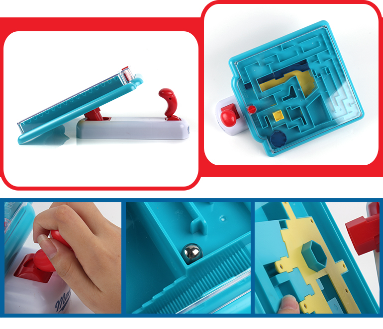 Plastic handheld game learning magic puzzle sequential maze toys for kids