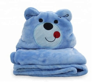 Lovely Cartoon Animal Premium Ultra Soft Flannel Hooded Unisex Baby Bath Towels Blanket,Suitable for 0-6 Years