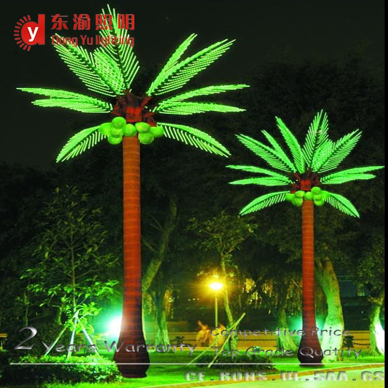 Solar Led Outdoor Landscape Light Up Artificial Coconut