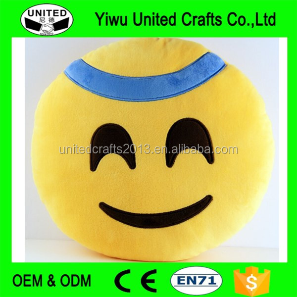 China stuffed smiley face soft toys emoji pillows good quality new products manufacture/emoji pillow