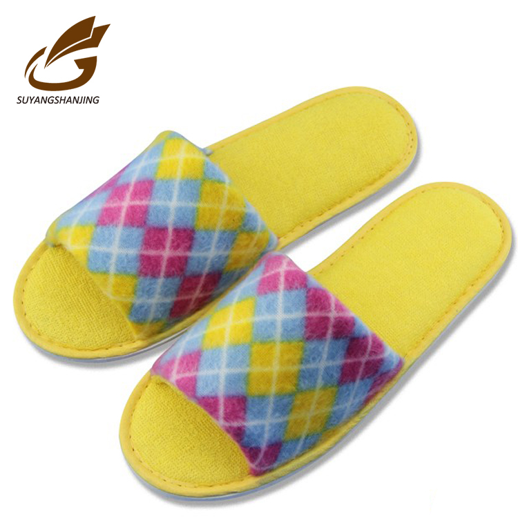 2016 new design fashion men slipper eva terry fabric home slipper