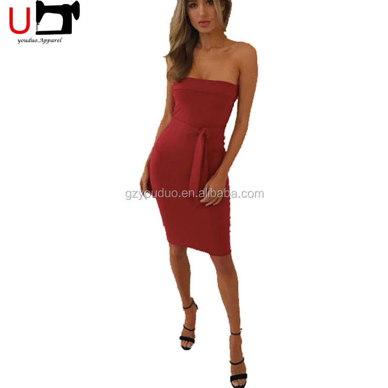 Hot Sale Off Shoulder Bandage Women Dresses Sexy Spandex Club Dress for Girls