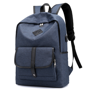 8153de7634 New Model Simple Design Nylon Waterproof Black Leisure Travelling USB  Charging Smart Laptop Backpack Bag