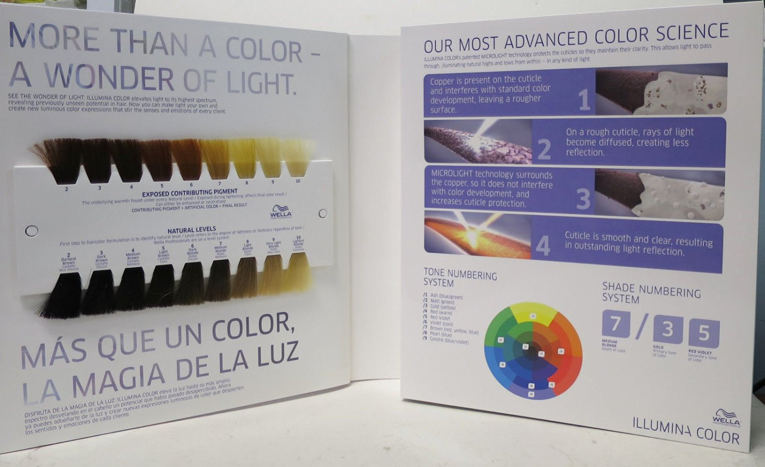 Wella Professionals Illumina Hair Color Swatch Book Binder