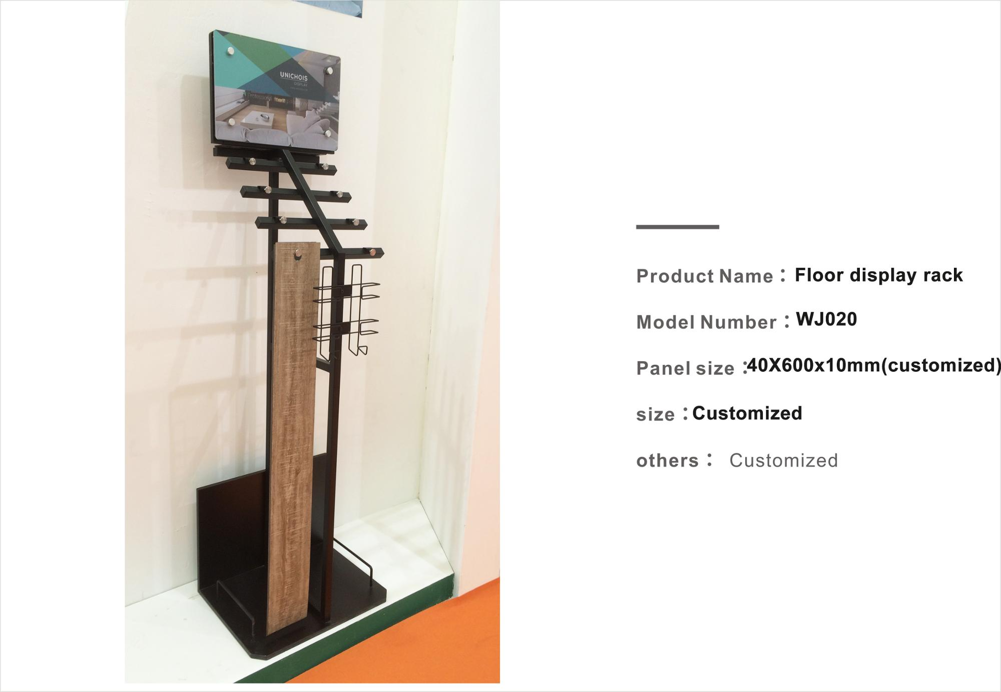 Promotional floor display rack for wood timber WJ100
