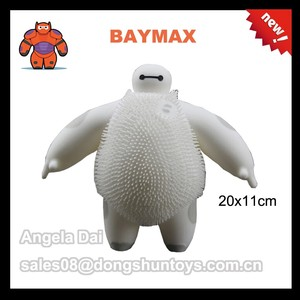Wholesale 20x11cm Inflatable BAYMAX Puffer Ball Flashing Toy For Children