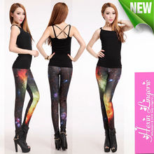 Wholesale Tie-dyed Stylish Orange Galaxy Sexy Leggings Pics