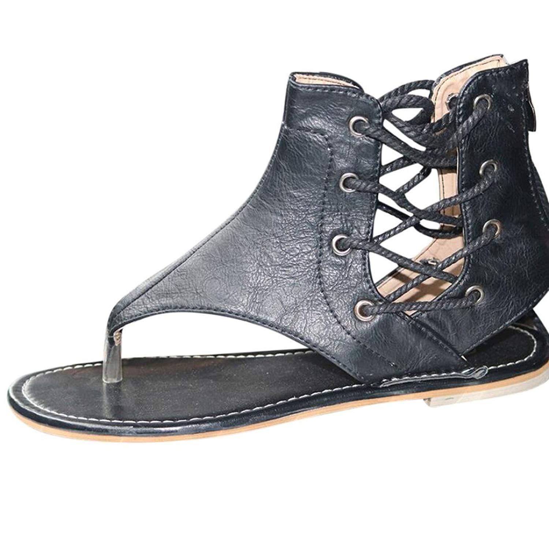 5760c1498178 AOJIAN Women Flat Shoes Bead Bohemia Slippe Sandals Peep