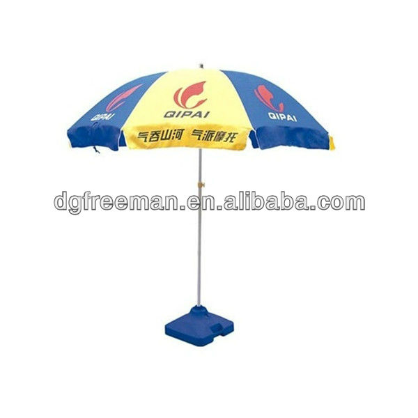 Blue and Yellow Commercial Beach Umbrella/Parasol