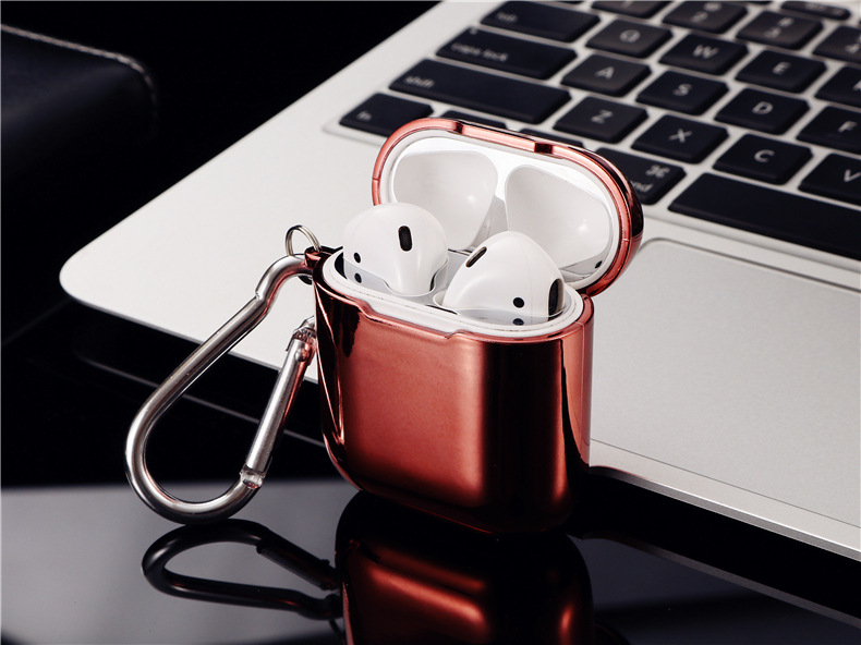 Electroplated TPU Earphone for Apple AirPods1 2  Case  Wireless Protective Cover Headphones Accessories Charging Box