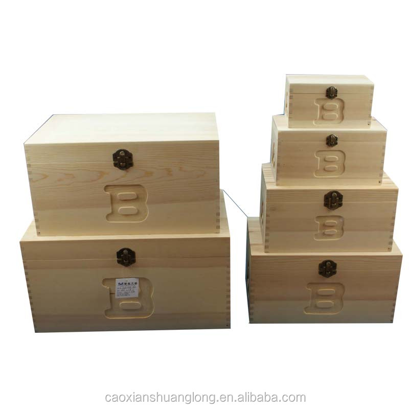 Factory manufacturer wooden packing box, standard packing box sizes