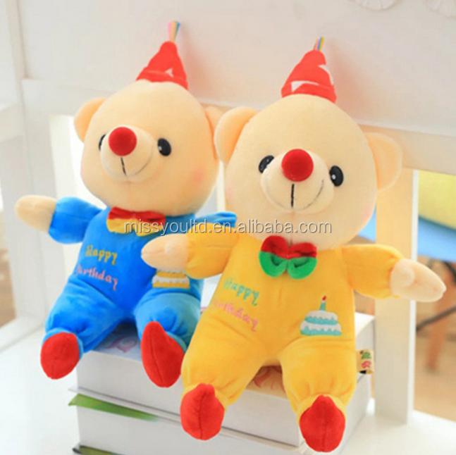 Factory Custom Cheap Standing Plush Teddy Bear With T-Shirts