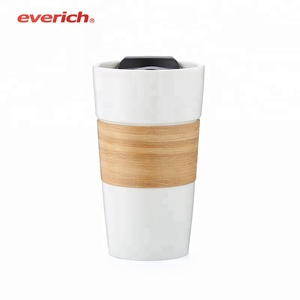 Unglazed Plaint White Blank Ceramic Mug With Silicone Lid By Everich