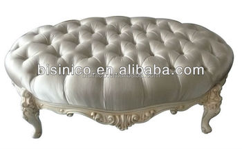 Prime White Colour Classical Hand Carved Solid Wood Foot Stool Oval Ottoman Bedroom Button Tufted Fabric Bench Victorian Style Buy Bed Foot Stool Antique Machost Co Dining Chair Design Ideas Machostcouk