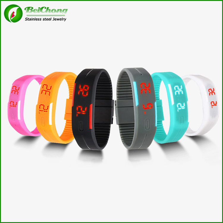 Promotional Cheap vogue watch fashional waterproof led touch bracelet watch