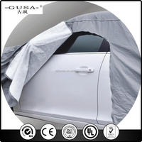 Elastic material black car cover,cover smart car at factory price