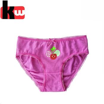ff79fcd2072 Pink Cherry Children Underwear Cotton Young Girl Wearing Panties ...