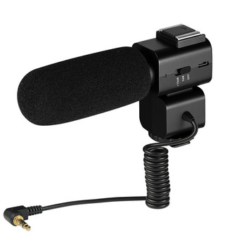 ORDRO External Microphone Rechargeable Microphone for Canon Hotshoe Digital Video Camera professional video camera