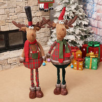 wholesale decorations plush deer standing christmas elf ornaments