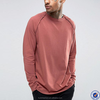 clothing manufacturers overseas mens long sleeve t-shirts 100% cotton cheap t shirt with raglan sleeve